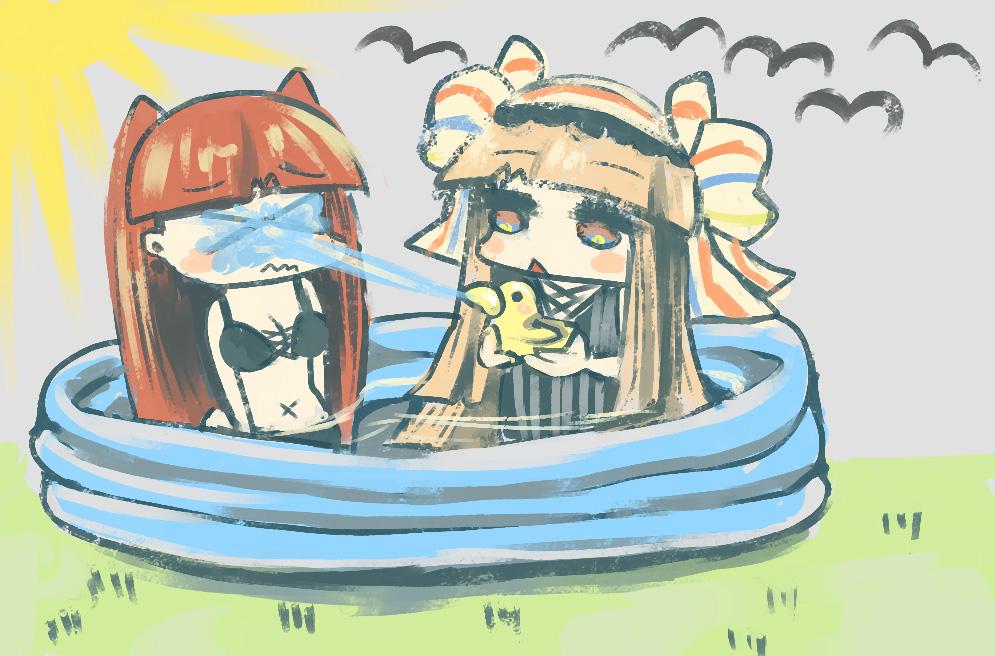 お庭でプールこのなな