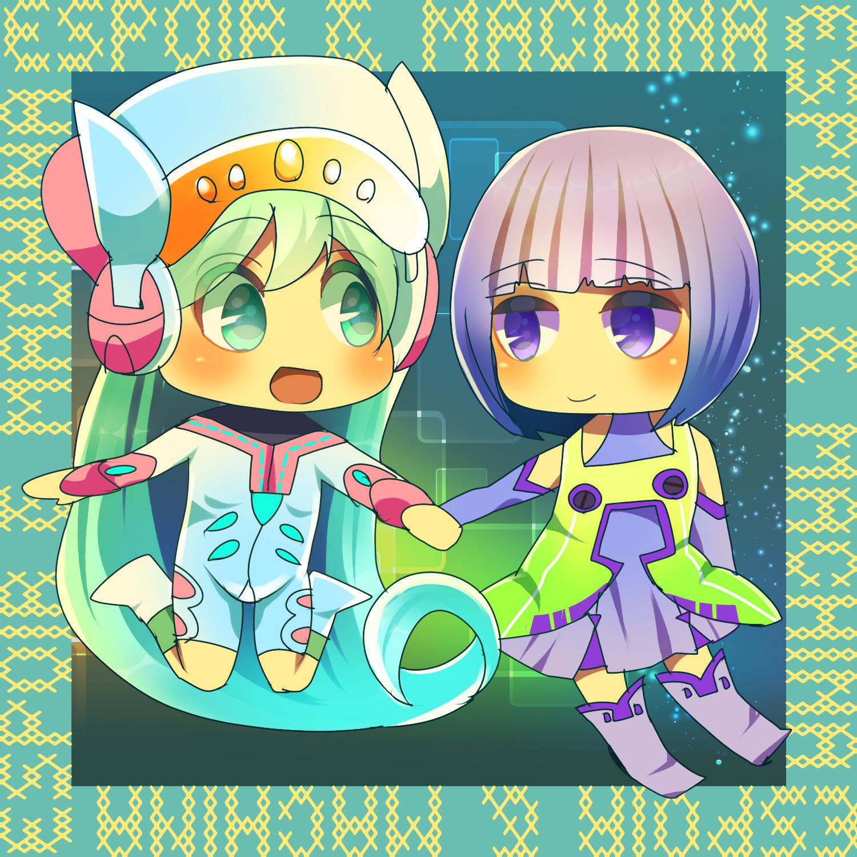 エスポワちゃんとマキナちゃん